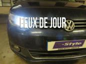 Pack ampoules  H15 feux de jour et route blanc led - VW Touran 1T3