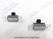 Blocs lampes Led d'éclairage de plaque AUDI A3 8L
