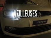 Veilleuses Blanc Pur pour VW Polo 6C1