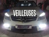 Veilleuses Blanc Pur pour Mercedes Classe C W204