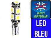 Ampoule Led BLEU W5W - Xtrem 9 - Anti-erreur ODB