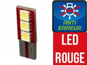 Ampoule Led ROUGE W5W - One Face 3 - Anti-erreur ODB