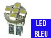 Ampoule Led BLEU W5W - Front 5