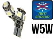Ampoules Led W5W - éclairage Plaque - Xtrem 5 - Anti Erreur ODB