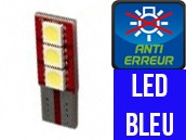 Ampoule Led BLEU W5W - One Face 3 - Anti-erreur ODB