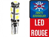 Ampoule Led ROUGE W5W - Xtrem 9 - Anti-erreur ODB