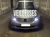 Pack Veilleuses  Blanc Pur pour Mercedes Classe C  W203
