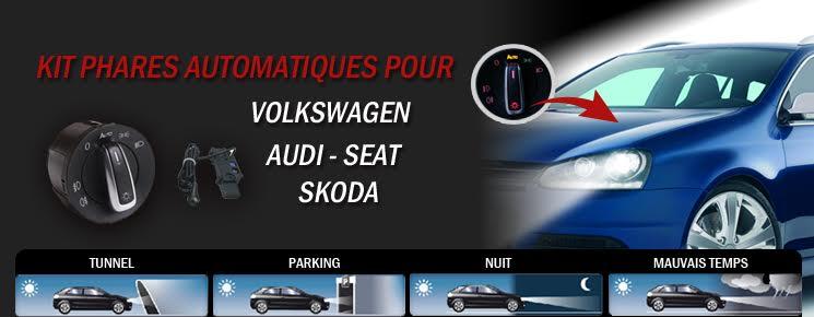 Kit allumage de feux phare automatique pour Audi, Seat, Skoda et Volkswagen